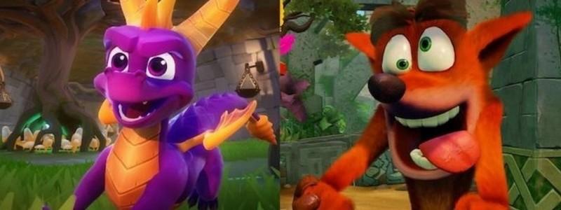 Нас ожидают новые игры Crash Bandicoot и Spyro