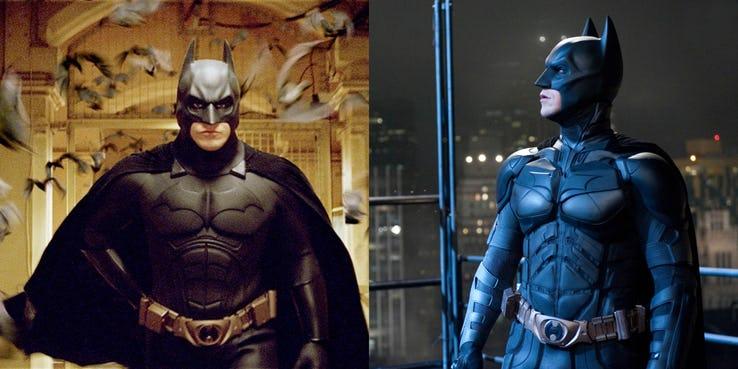 Все логотипы и костюмы Бэтмена в фильмах DC
