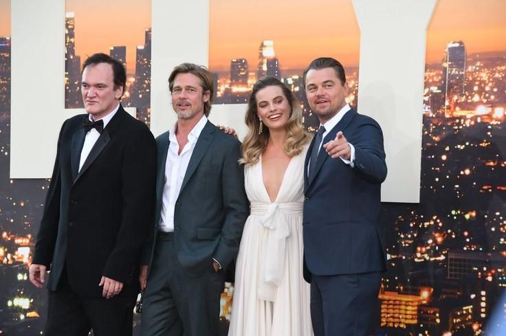 """Квентин Тарантино, Леонардо ДиКаприо, Брэд Питт и Марго Робби представили фильм """"Однажды в... Голливуде"""" в Лос-Анджелесе"""