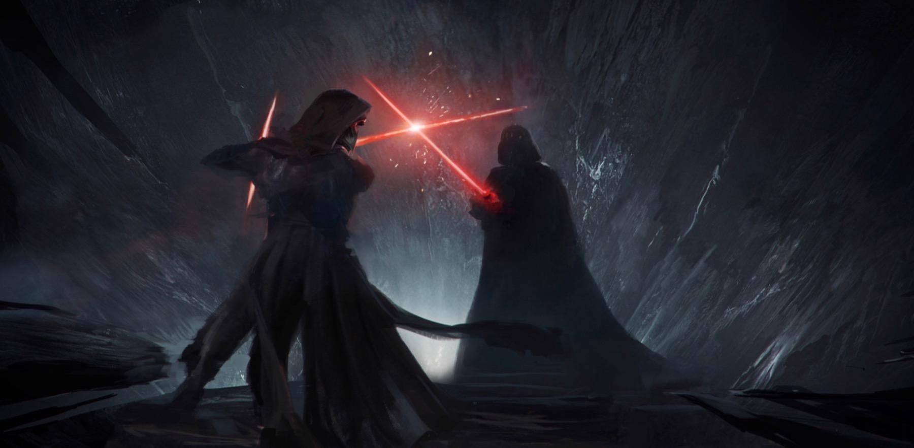 Дарт Вейдер на слитом изображении «Звездных войн 9: Скайуокер. Восход»