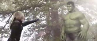 Вырезанная сцена «Мстителей: Война бесконечности» показала Халка и Черную вдову