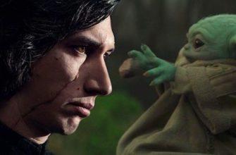 Кайло Рен держит Грогу на новом изображении «Звездных войн»