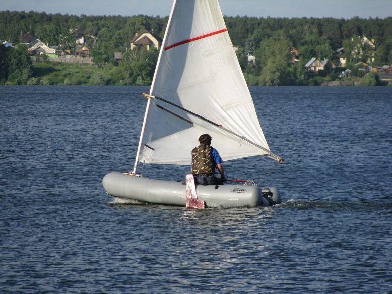 Как сделать парус на ПВХ лодке?