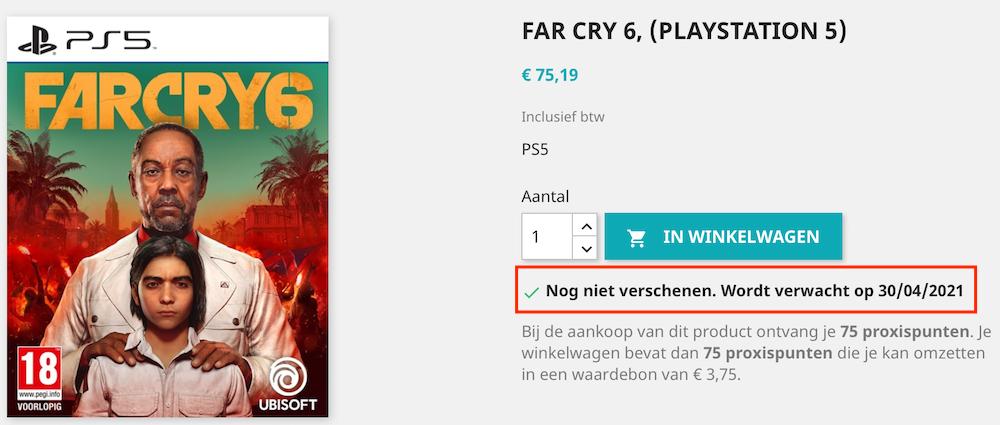Раньше времени появилась дата выхода Far Cry 6