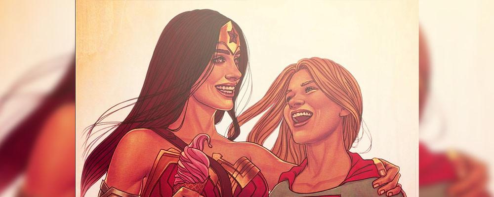 Тизер встречи Чудо-женщины с Супергерл в киновселенной DC
